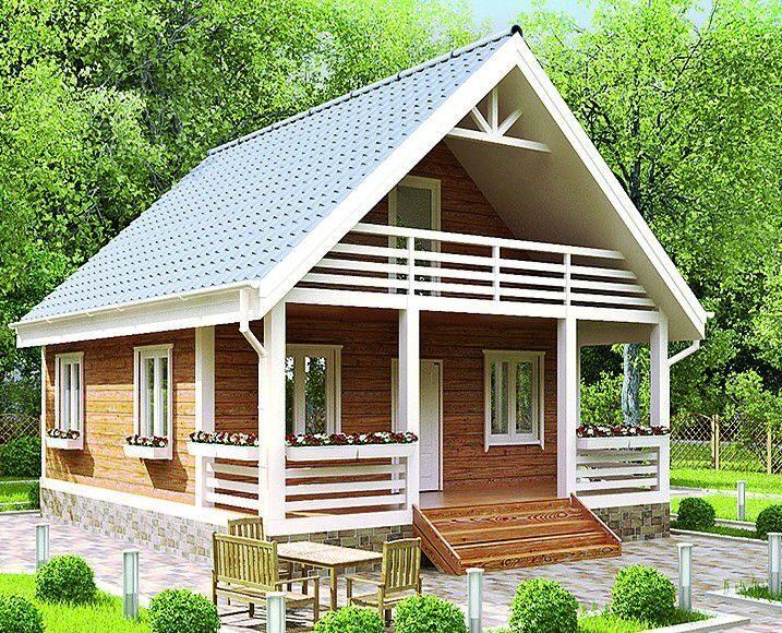 Каркасные дом с фото 59